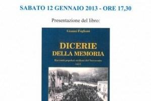 Dicerie della memoria, al d'Avalos presentazione del libro di Gianni Fogliani