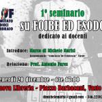 LOCANDINA SEMINARIO FOIBE ED ESODO