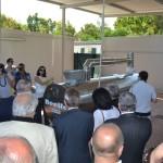 Un momento dell'inaugurazione dell'impianto