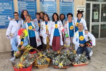 Ricoclaun negli ospedali di Vasto, Termoli e Lanciano con le Palme Benedette