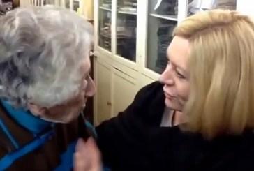L'incontro tra Lisa Scaffidi e la 91enne Ester Stella