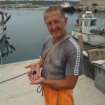 mauro alessandrini con cavalluccio marino