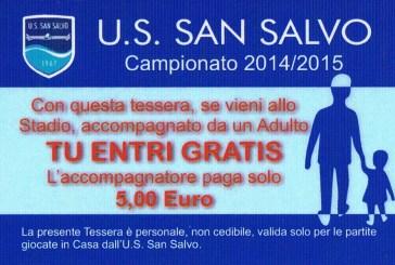 U.S. San Salvo, bambini gratis allo stadio