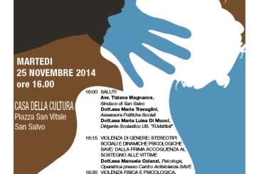 """San Salvo: ecco le iniziative nella  """"Giornata internazionale contro la violenza sulle donne""""."""