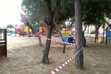 Interdetto l'uso dei giochi al parco Suriani di Vasto Marina