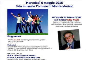 Nuove generazioni, a Monteodorisio una giornata di formazione col prof. Ezio Aceti