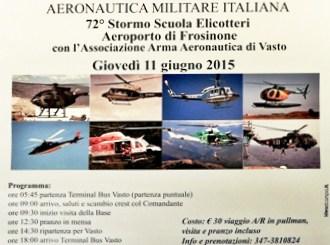 L'Associazione Arma Aeronautica Sezione di Vasto organizza la visita alla Scuola Elicotteri dell'A.M.