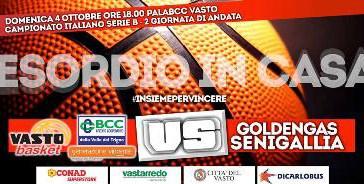 Esordio in casa BCC Vasto Basket Generazione Vincente