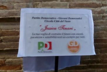 Intitolata a Jessica Tinari la sede del Pd di Vasto