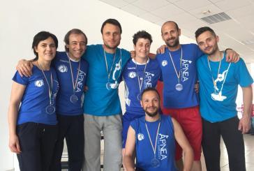 Apnea Team Abruzzo, sette medaglie al meeting di Bari