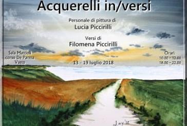 Nella sala Mattioli la mostra Acquerelli In/Versi di Filomena e Lucia Piccirilli