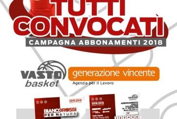 Parte la campagna abbonamenti della Vasto Basket