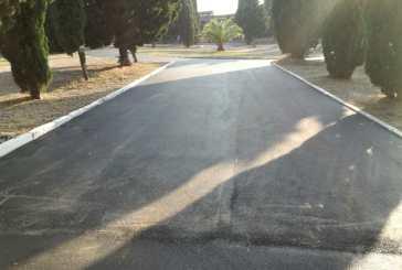 Cimitero comunale, nuovi tappetini d'asfalto