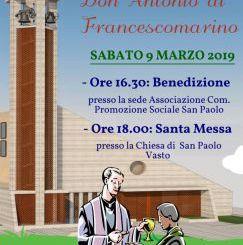 Oggi la cerimonia in onore di don Antonio Di Francescomarino