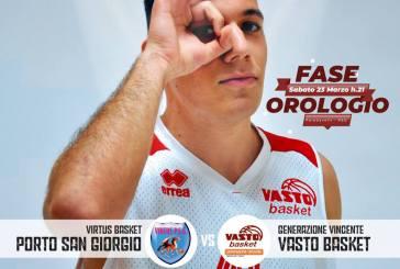 Per la Vasto Basket è sfida con il Porto San Giorgio