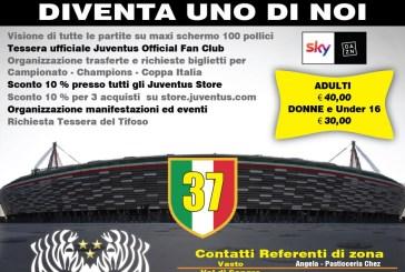 Al via la campagna di adesione alla nuova stagione dell'Official Fan club Juventus di San Salvo