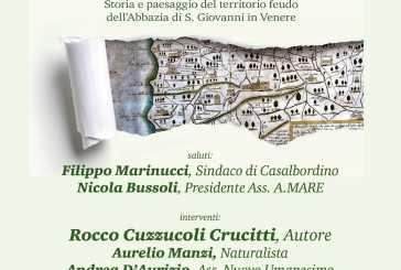 """Oggi la presentazione """"La Costa dei Trabocchi tra il Feltrino e il Sangro"""" con l'autore Cuzzucoli e il naturalista Manzi"""
