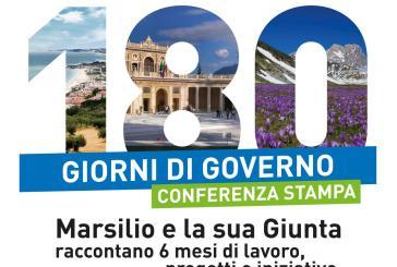 """""""180 giorni di Governo: Marsilio e la sua Giunta raccontano sei mesi di lavoro, progetti, iniziative"""""""