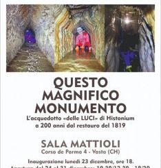 """Vasto, nella Sala Mattioli la mostra """"Questo magnifico monumento"""""""