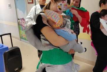 Festa di Carnevale in Pediatria con la Ricoclaun