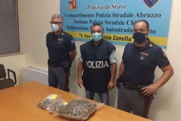 Traffico di sostanze stupefacenti, tre persone arrestate dalla Polstrada