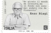 Un francobollo commemorativo di Enzo Biagi nel centenario della nascita