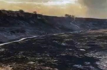 Punta Aderci, droni in volo per quantificare i danni provocati dall'incendio