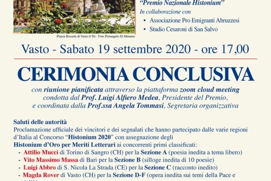 Locandina Premio Histonium 2020