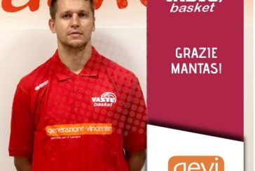 Tegola per la Vasto Basket, infortunio per Mantas Kadzevicius