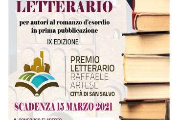 """Pronto il bando della IX edizione del premio letterario """"Raffaele Artese – Città di San Salvo"""" anno 2021"""