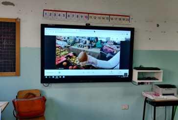 La 2C della scuola Spataro di Vasto in collegamento web scopre il Mercato Santa Chiara