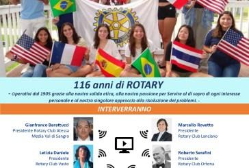 Festa per i 116 anni della Fondazione del Rotary, iniziativa con il Prof. Sabatini