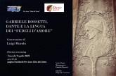La Pro-Loco di Vasto su Rossetti e Dante: una conversazione del prof. Luigi Murolo