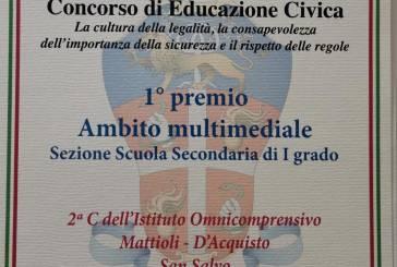 Educazione Civica, premiati il Consiglio comunale dei ragazzi  e la 2° C della