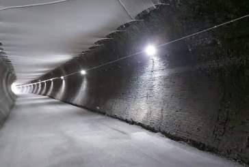 Via Verde, completata l'illuminazione della galleria Casarza 1