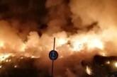 Incendio in contrada Piano di Marco, chiusa la provinciale 152