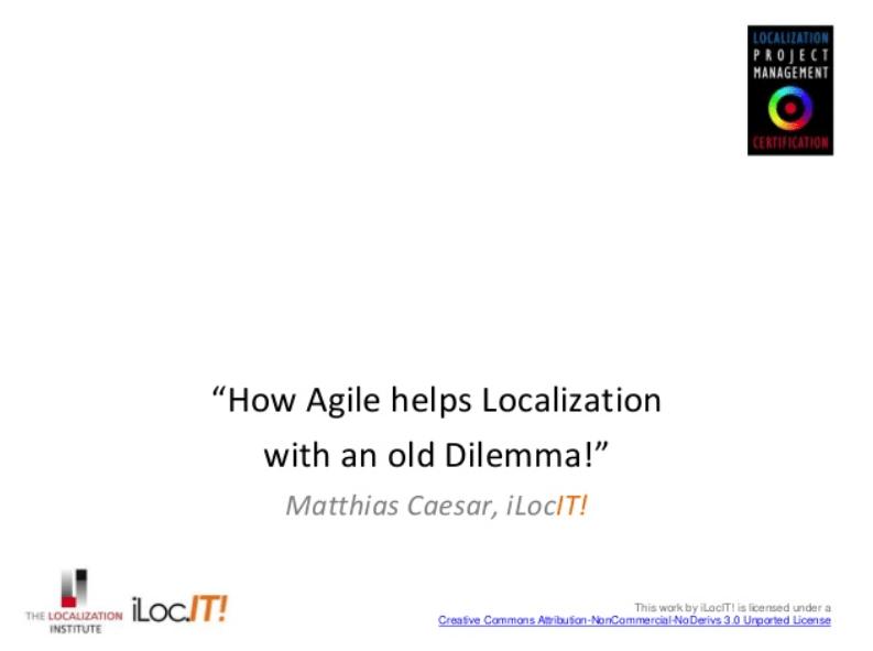 Agile Softwareentwicklung und Lokalisierung