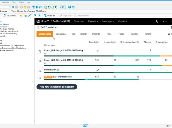 Kurze Einführung in iLP zur Übersetzungen in SAP-Systemen