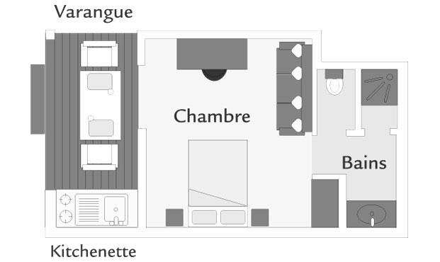 Bungalow Kitchenette  ILOHA Seaview Hotel  La Runion