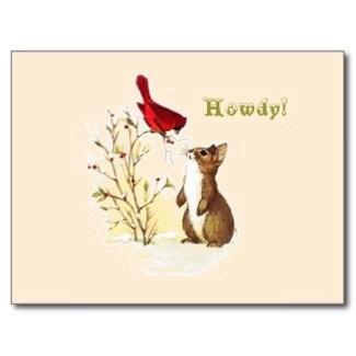 Hello Bunny Postcard postcard