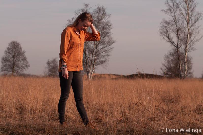 outfit 6 crunge outfit inspiratie gele blouse bergschoenen