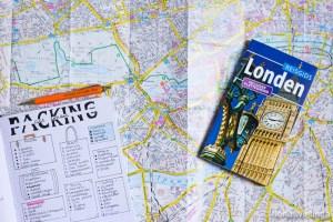 Londen 3 packing list roadmap stedentrip