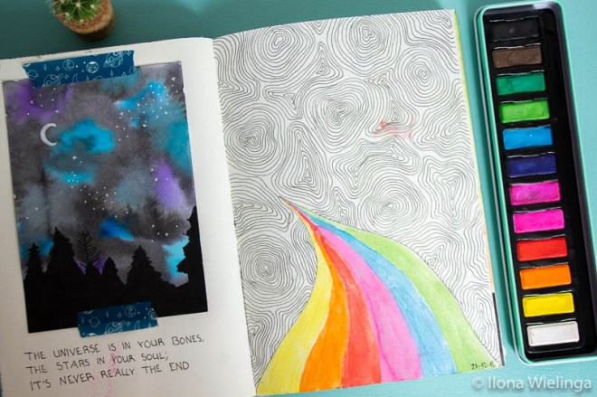 art journal inspiratie doodles quote