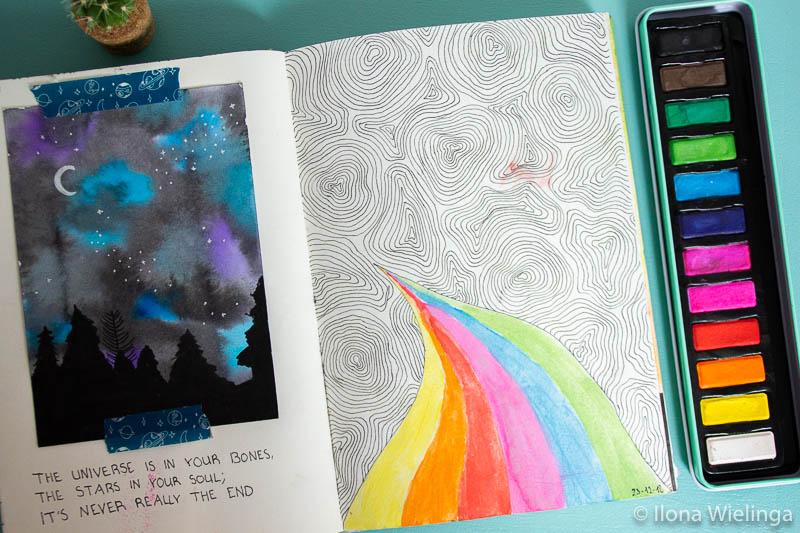 art journal inspiratie doodles quote