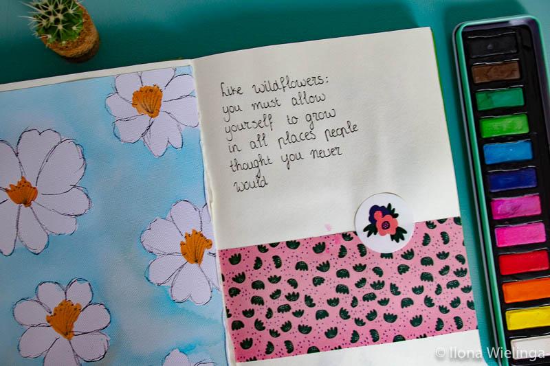 art journal inspiratie bloemen