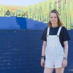 outfit 4 tuinbroek forever 21 geel met blauw