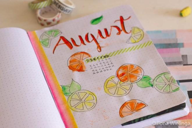 bullet journal augustus