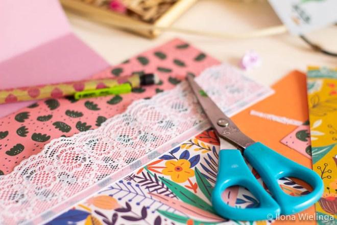 creatieve materialen Dagmar verjaardag