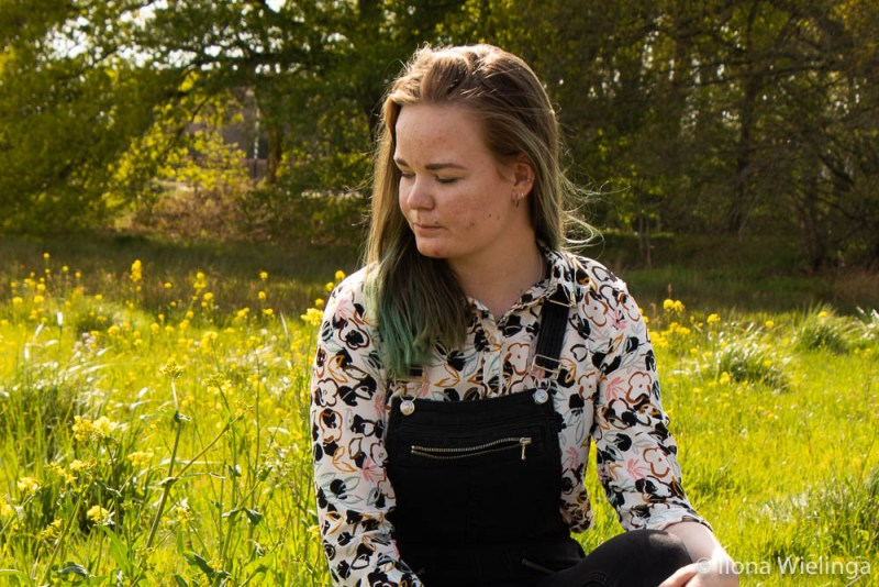 overal bloemen outfit blouse 6