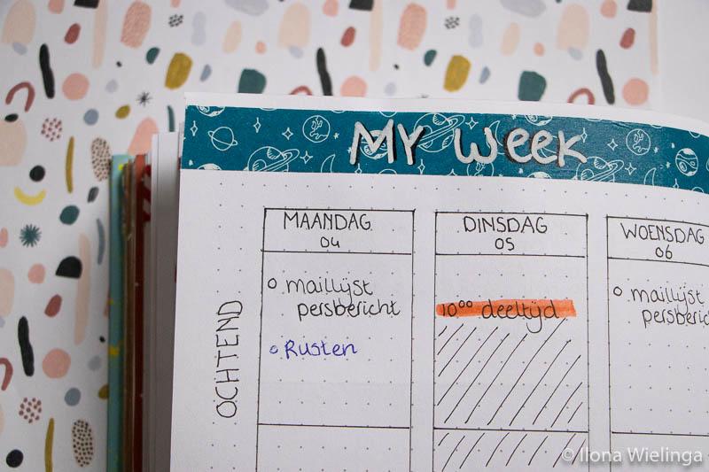 balans in je dag plannen 3
